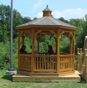 10' PT Octagon Gazebo w/ Optional Benches