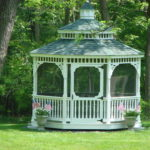 10' PT Oval Victorian Gazebo w/ Optional White Paint