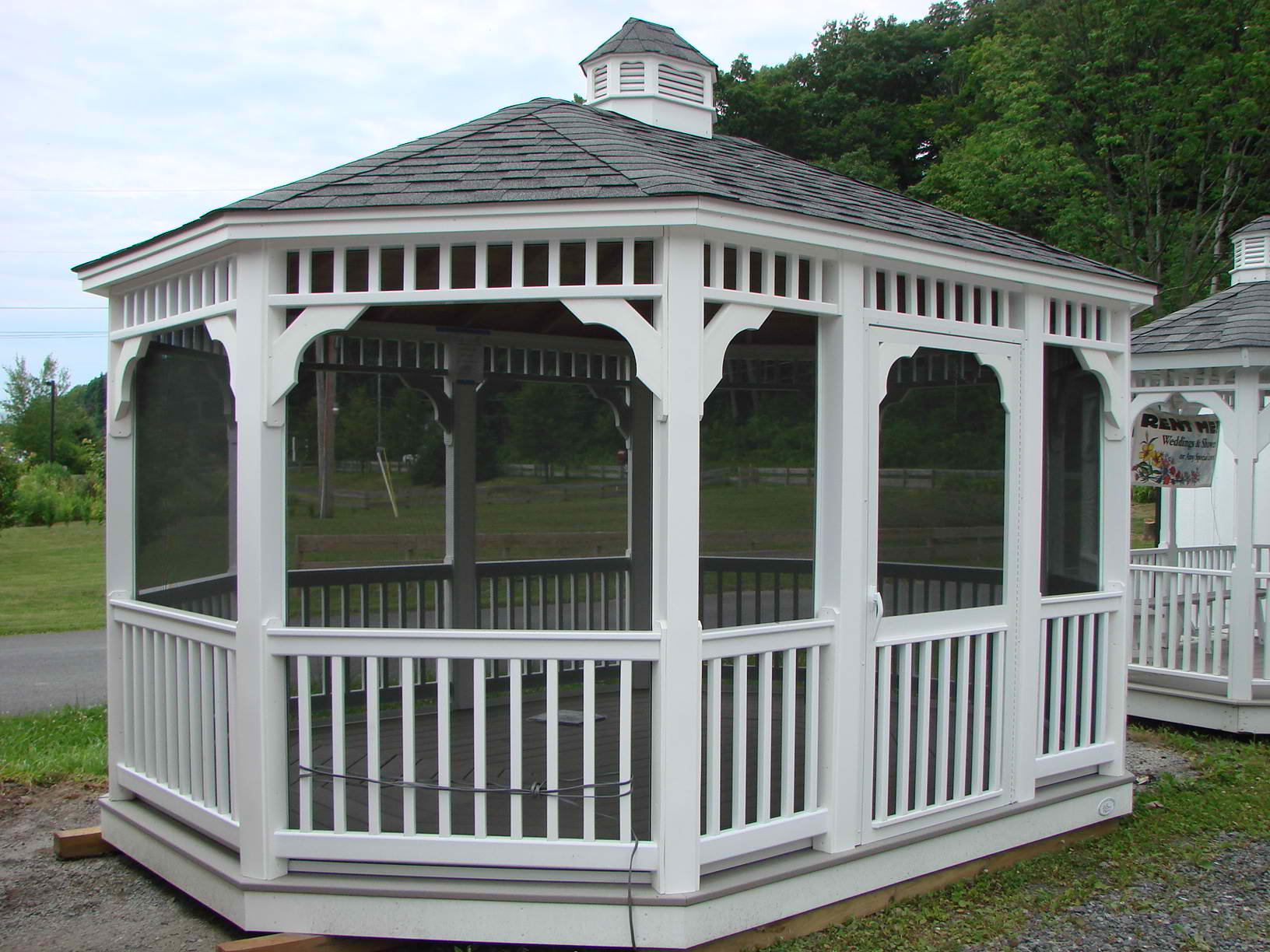 10'x16' Vinyl Oval Gazebo w/ Optional Screens