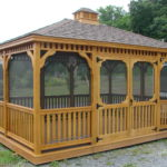 12'x16' PT Rectangle Gazebo w/ Optional Screens