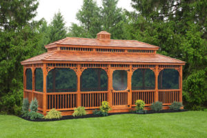 12'x24' Cedar Rectangle Victorian Gazebo w/ Optional Screens