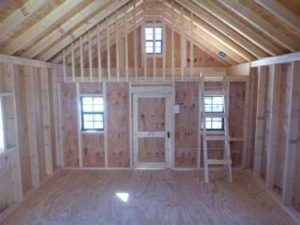 Country Style Playhouse Interior View - Unfinished