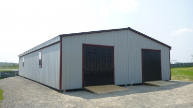 28'x48' Duratemp Double Wide Shed w/ Optional Fiberglass Double Doors