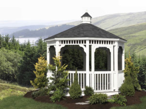 10' Vinyl Octagon Gazebo w/ Optional Screens