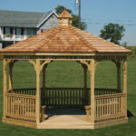 12' PT Gazebo w/ Optional Cedar Shakes & Benches