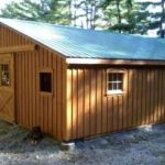 30'x36' Low Profile Horse Barn w/ Center Aisle