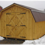 Board & Batten 10'x12' 4' Wall Mini Barn