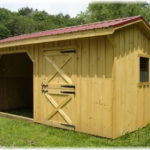 Board & Batten 10'x18' Stall Barn w/ Run-In