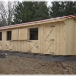 10'x36' 3- 10'x10' Stalls w/ optional 6' tack room