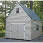 Vinyl 12'x20' 2-Story Single-Wide A-Frame Shed
