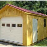 12'x24' Board & Batten A-Frame 1-Car Garage