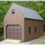 Duratemp 12'x28' 2-Story Single-Wide A-Frame 1-Car Garage