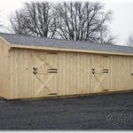 Board & Batten 12'x34' 2-Stall-Barn w/ Tack