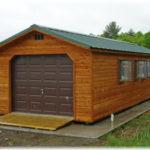 14'x36' Cedar A-Frame 1-Car Garage