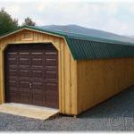14x46 Board & Batten Dutch Barn 1-Car Garage