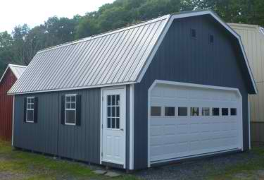 20u0027x24u0027 Duratemp Super Barn Garage W/ Upgraded 16u0027x7u0027 Garage Door