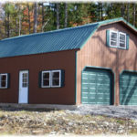 Duratemp 24'x30' 2-Story Floorless 2-Car Garage w/ Gambrel Roof