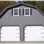 Duratemp 24'x36' 2-Story Floorless 2-Car Garage w/ Gambrel Roof