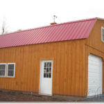 Board & Batten 24'x30' 2-Story Floorless 2-Car Garage w/ Gambrel Roof