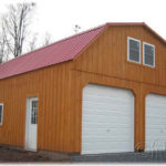 Board & Batten 24x30 2-Story 2-Car Garage Gambrel-Style Roof