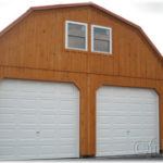 Board & Batten 24'x30' 2-Story 2-Car Garage w/ Gambrel Roof
