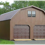 Duratemp 24'x32' 2-Story 2-Car Garage Gambrel-Style Roof