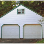 Vinyl 24'x24' 2-Story Floorless 2-Car Garage