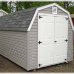 Vinyl 8'x12' 4' Wall Mini Barn