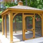 PT Wood 12'x12' Pavilion w/ Screens