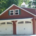 Vinyl 24'x36' 2-Story A-Frame 2-Car Garage w/ Optional Dormer & Side Awning