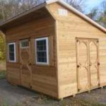 Cedar 10'x14' Lean To w/ Insulated Windows