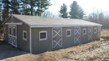 30'x48′ Low Profile Stall Barn