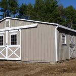 Board & Batten 30'x48' Low Profile Stall-Barn