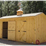10'x18' 10'x12' Stall Barn w/ optional 6' tack room, cupola w/ weathervane & asphalt shingles