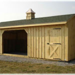 10'x16' Run-In Shed w/ optional cupola 6' tack room, & asphalt shingles