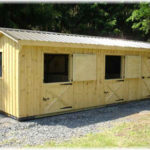 10'x28' 2- 10'x10' Stalls w/ optional 8' tack room