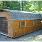 14x30 Cedar Dutch Barn 1-Car Garage