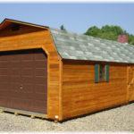 Cedar 14'x36' Dutch Barn 1-Car Garage