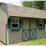 Duratemp 10'x14' Dutch Barn Quaker (Dutch Barn w/ 2ft. Overhang)