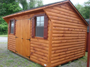 10x14 Log Quaker Shed