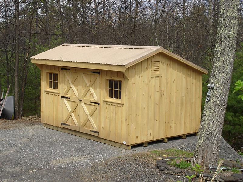 Heavy duty board batten sheds the barn raiser for Board and batten shed plans