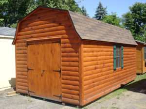 10x18 Log Dutch Barn Shed