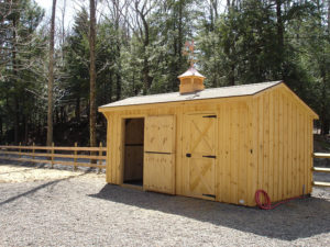 10x18 Stall Barn w Tack