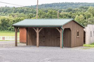 10x20 Stall Barn w Overhang