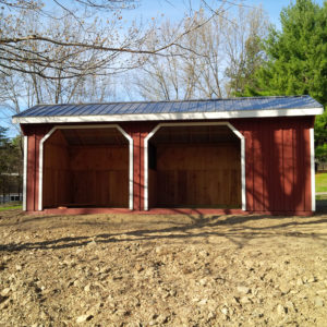 10x24 Run In Shed