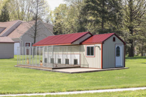 10x28 Metal Siding Traditional 5 Box Kennel