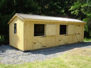 10x28 Stall Barn