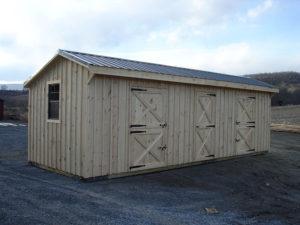 10x28 Stall Barn w Tack