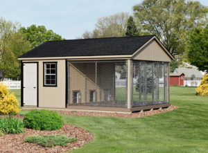 12x18 LP SmartSide Triple Traditional Kennel