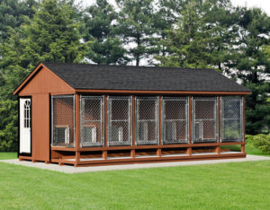 12x22 LP SmartSide Traditional 6 Box Kennel